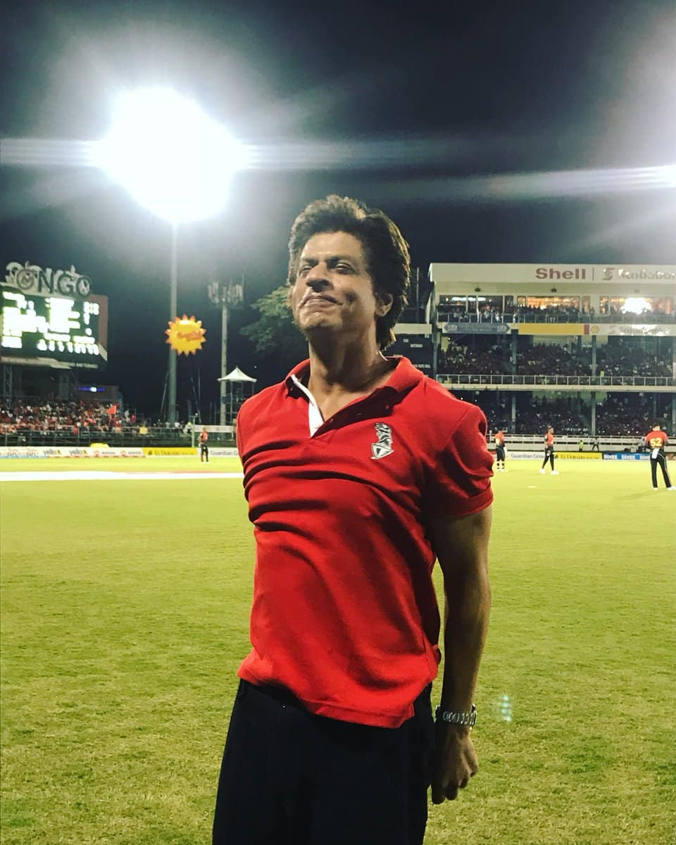 Shah Rukh Khan sways to Calypso beats while supporting his team Trinbago Knight Riders
