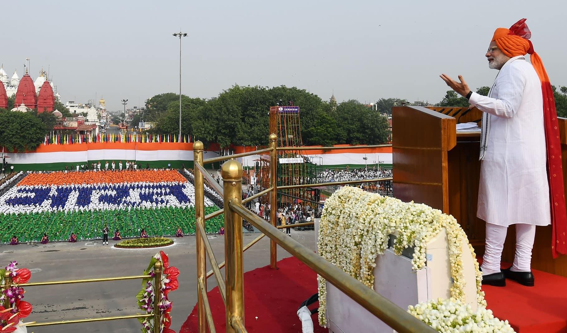 Modi backs devlopment pitch