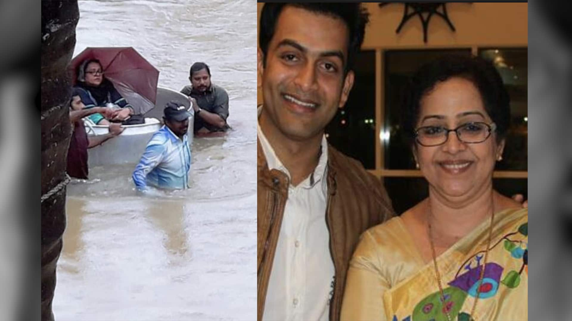 Malayalam superstar Prithviraj's mother rescued from flooded house in Kerala