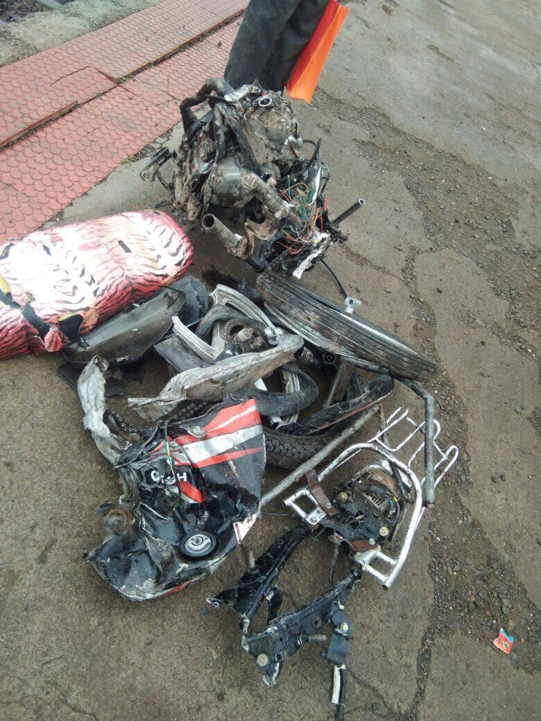 Man left his bike on train track in Raibag