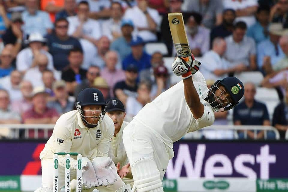 Rishabh Pant Gets off the mark in Test Cricket with a six