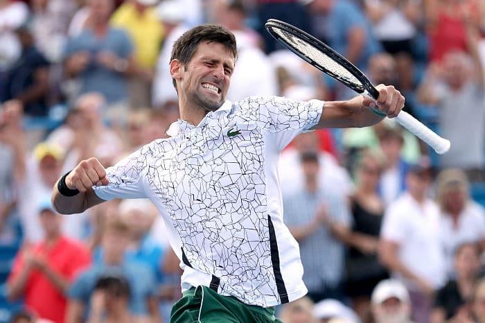 Novak Djokovic Roger Federer Cincinnati title Kiki Bertens Simona Halep Tennis