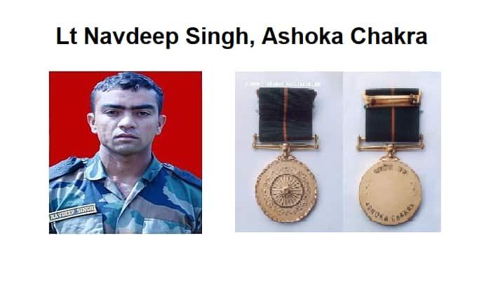 Navdeep Singh Ashoka Chakra pakistan terrorist infiltration LoC