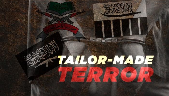 Kashmir Tailors Lashkar e toiba Ansar Gazvat ul Hind Hizbul Mujahideen terror flags arrested