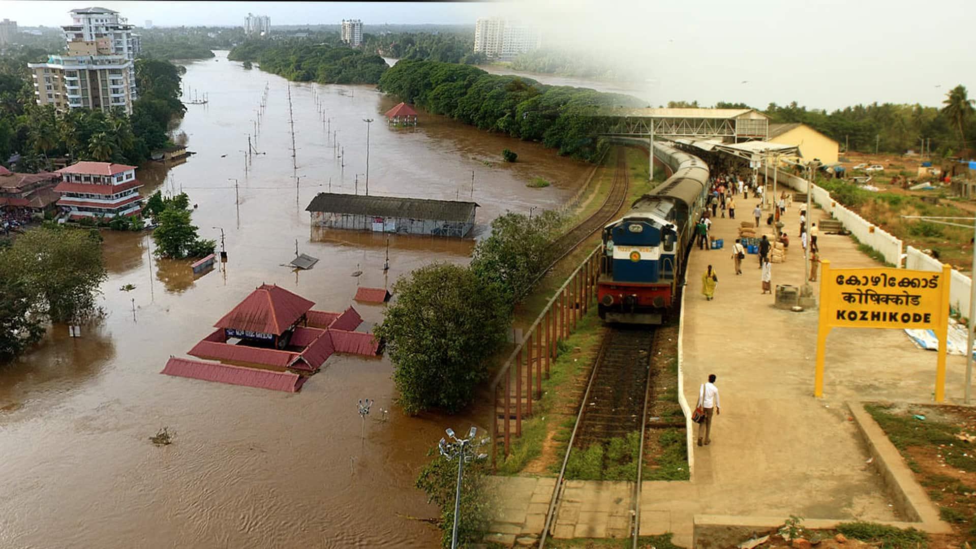 Kerala floods train service resumed  Kayankulam Kottayam Ernakulam Palakkad Shoranur Kozhikkode