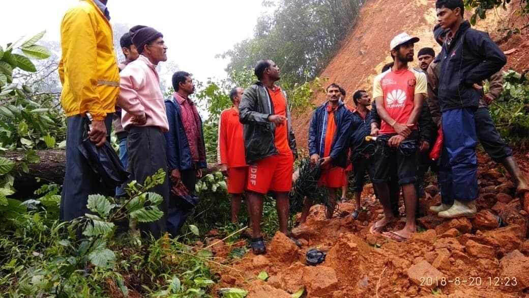 Karnataka Kodagu Rain Landslide Effigy Manjula Cremation NDRF