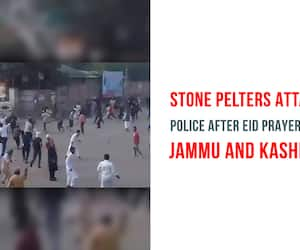 Jammu and Kashmir Eid protest anti-India police attacked Anantnag stones