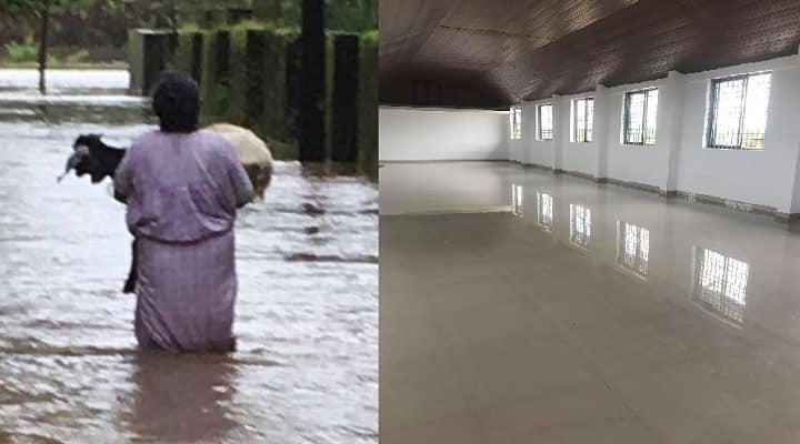 Kerala floods Rita Gopinath Parayil relief material rescue work viral photo Kongorpilly Government Higher Secondary School Idukki