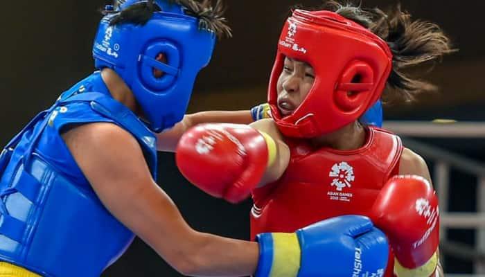 Asian Games Wushu Naorem Roshibina Devi Santosh Kumar Surya Bhanu Pratap Singh Narender Grewal