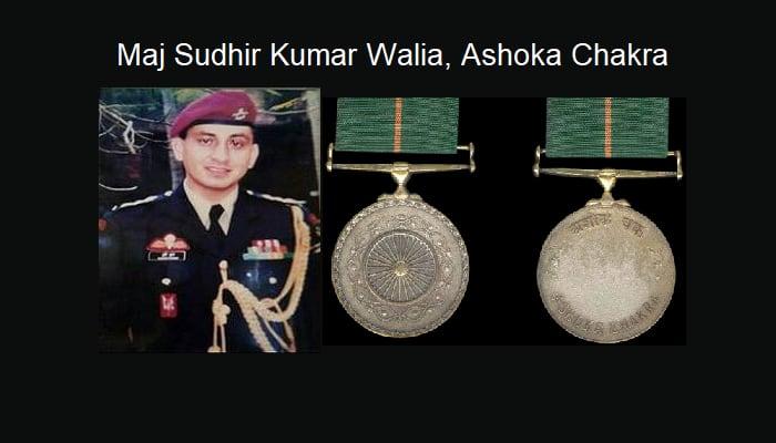 Sudhir Kumar Walia Ashoka Chakra Martyr VP Malik Jammu and Kashmir