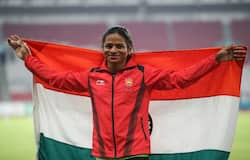 Dutee Chand at Asian Games 2018