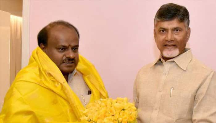Chandrababu Naidu to meet Deve Gowda in karnataka today at his residence