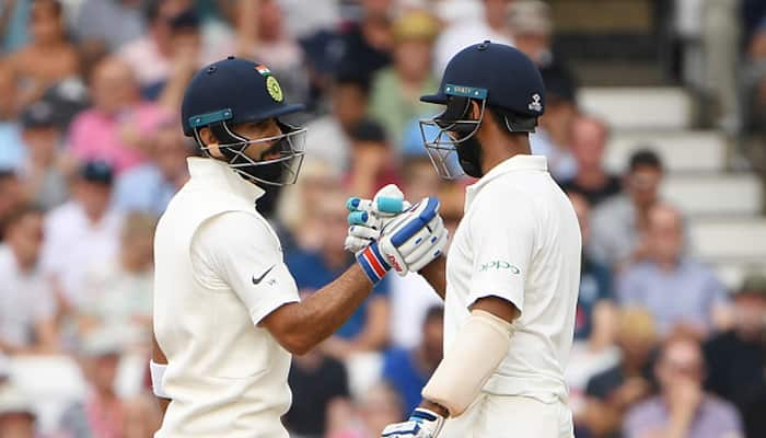 pujara denied to come back for fourth run during first innings of third test