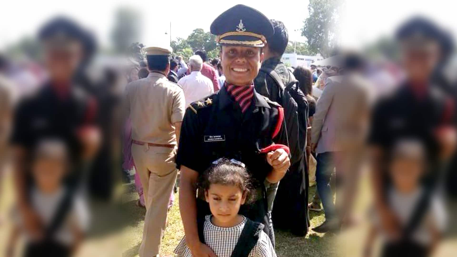 Wife joined Indian Army after her husband attained martyrdom