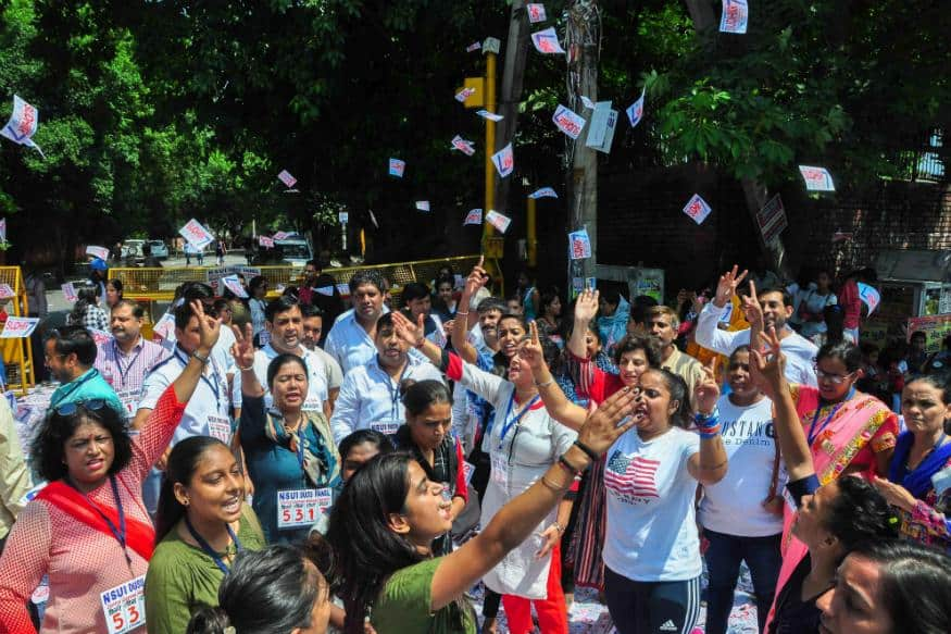 DOSU Election: Voting stopped due to EVM scarcity, students clash