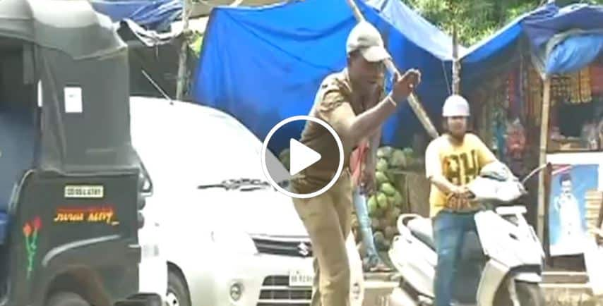 traffic police personnel in Odisha Bhubaneswar controls traffic by his dance moves