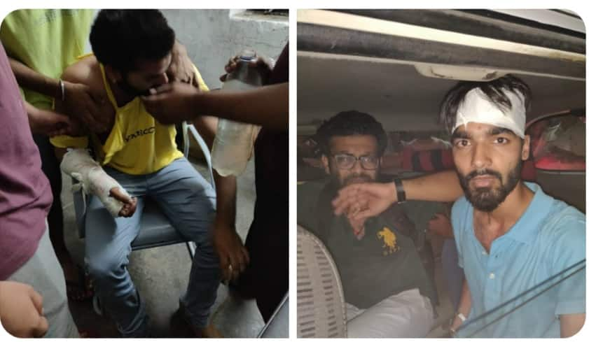 Jnsu result Ruckus in campus ABVP allegation Left workers are attacking