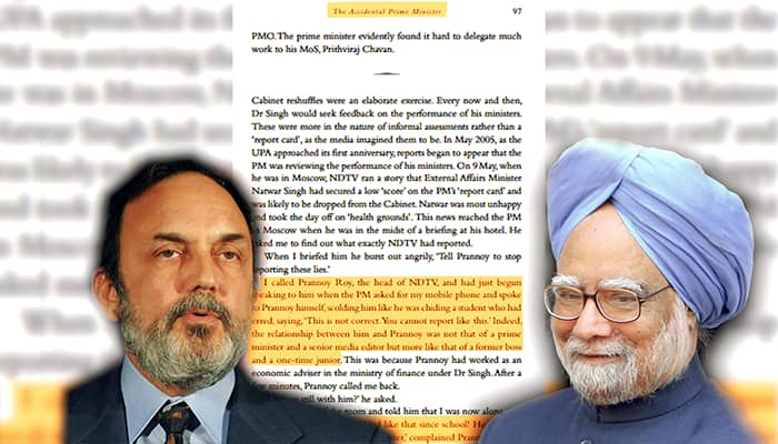 Manmohan Singh scolded NDTV's Prannoy Roy and got a story dropped, recalls journalist