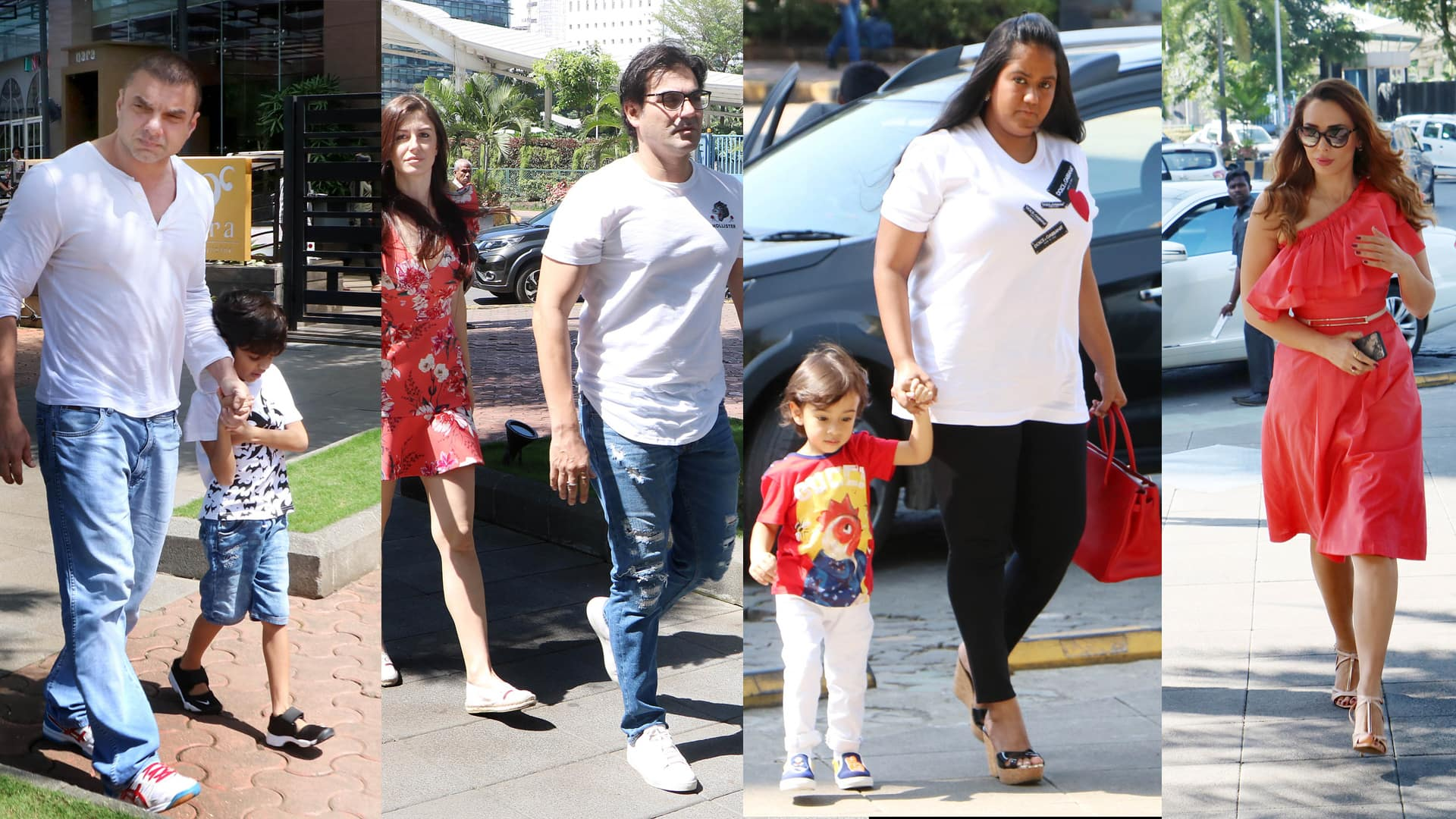salman khan family go together for lunch date, salman and arbaz girlfriend also their