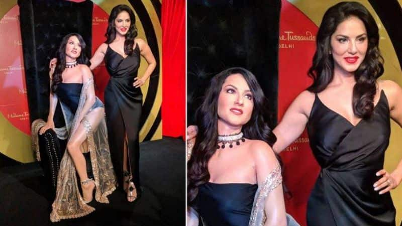 sunny leone shocked after see her wax statue