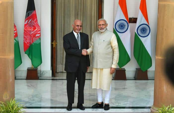 Afghan president meets PM Modi in Delhi