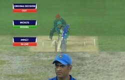 Dhoni out