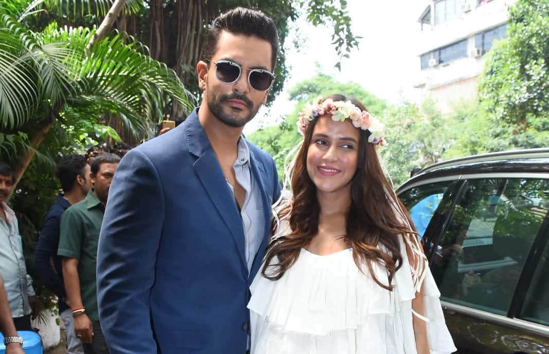 Angad Bedi admits Neha Dhupia was pregnant before their wedding