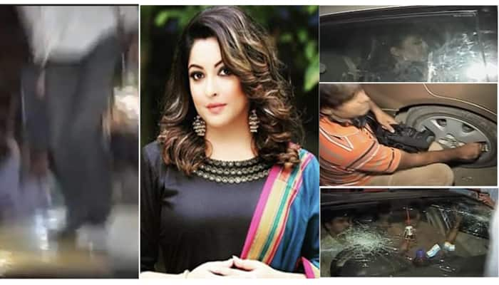 Video footage: This is how Tanushree Dutta's car was attacked by goons while she was still inside