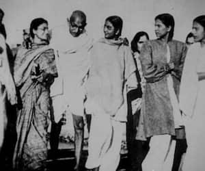 Mahatma Gandhi sexual experiments Manuben celibacy Brahmacharya sex life unusual
