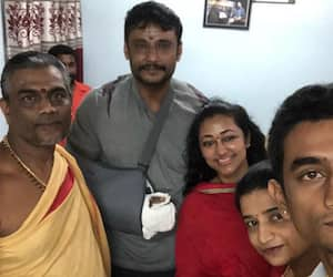 Karnataka Sandalwood Challenging star Darshan Mysuru Chamundi hills wife