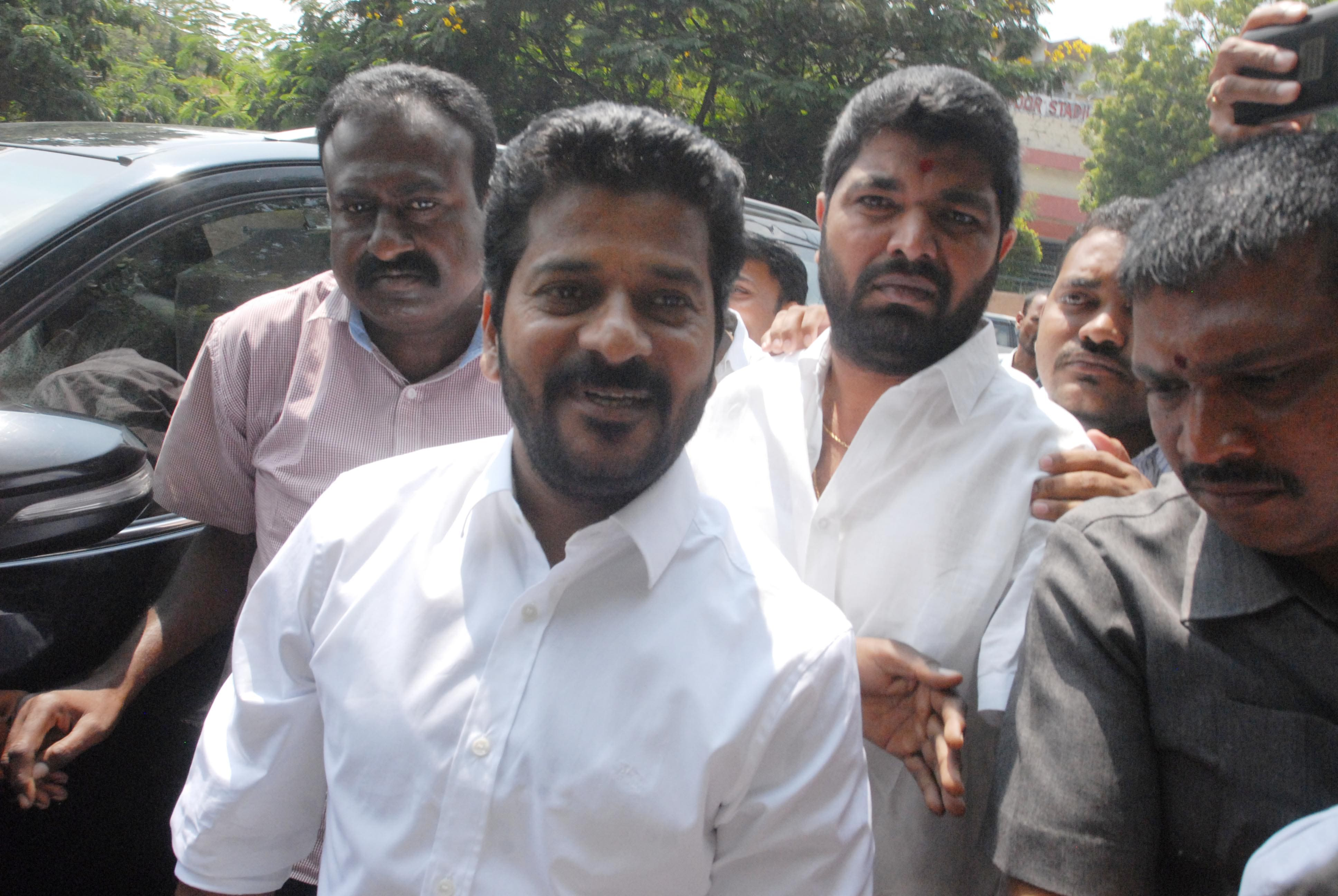 Cash for vote:Congress MP Revanth Reddy appears before ACB court in Hyderabad