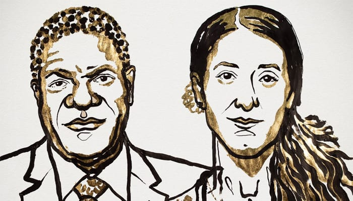 Nobel peace prize 2018 to be given to Denis Mukwege and Nadia Murad