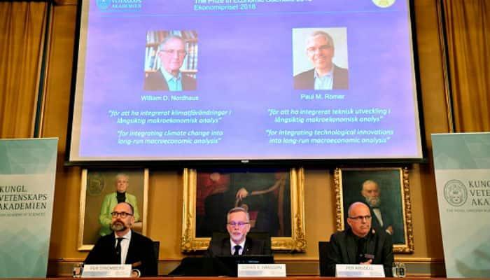 Nobel Prize in Economics 2018 William Nordhaus Paul Romer climate change
