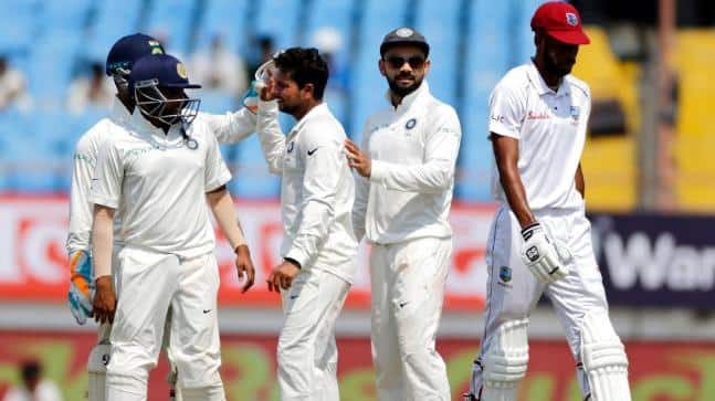 India vs West Indies: Ashwin, Kuldeep put visitors in trouble; WI 86/3 at lunch on Day 1 of Hyderabad Test
