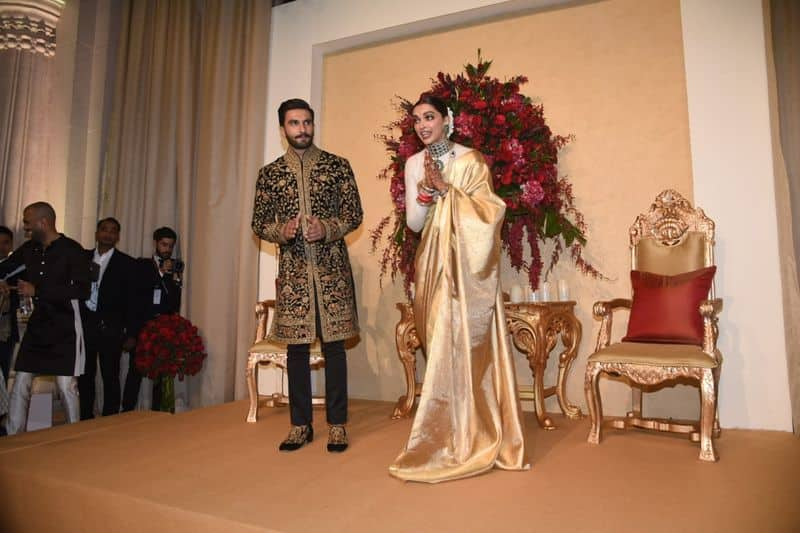 The couple married in Italy's Lake Como last week and returned to India on Saturday.