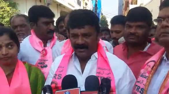 Huzurabad Bypoll: minister talasani srinivas yadav election campaign at veenavanka mandal