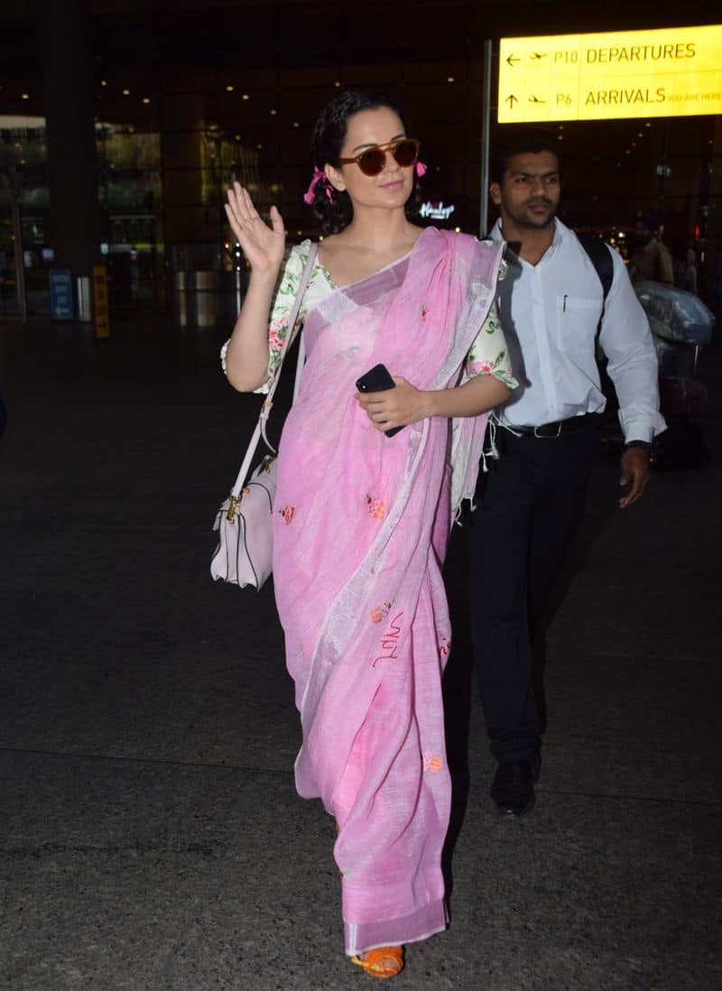 The icing on the cake were here twisted pigtails with matching pink ribbons. Asha Parekh vibes, much?