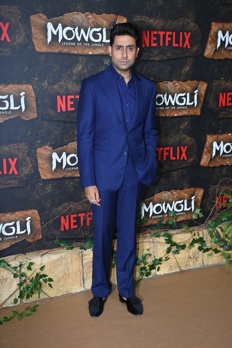 Abhishek Bachchan aka Bagheera also rocked royal blue in solidarity with his Legend of the Jungle mates, Nisha and Baloo.