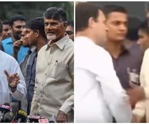 Chandrababu Naidu and Rahul Gandhi shares same stage, both says historic moment