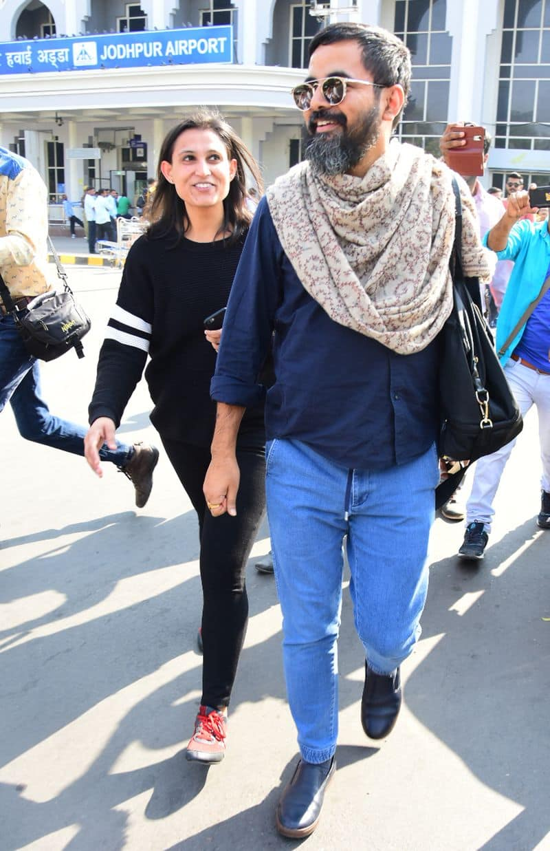 Designer Sabyasachi Mukherjee is in a overdrive as he arrives in Jodhpur after wrapping the DeepVeer wedding in Lake Como, Italy.