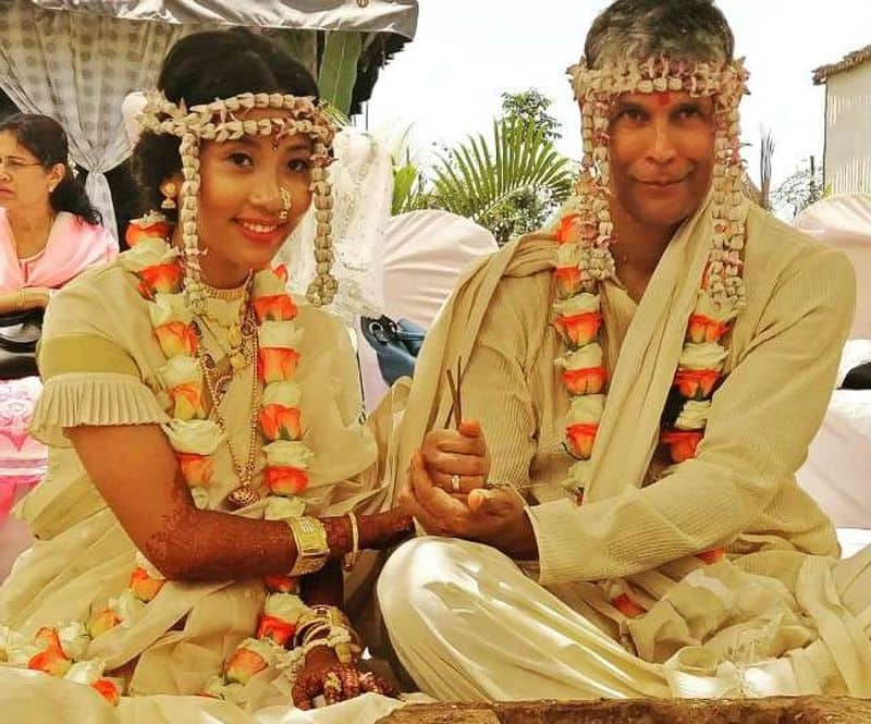 Milind Soman and Ankita Konwar- The two held a traditional Maharashtrian wedding in Alibaug on April 22. The wedding was highly controversial due to the alleged age gap of 26 years between the couple.