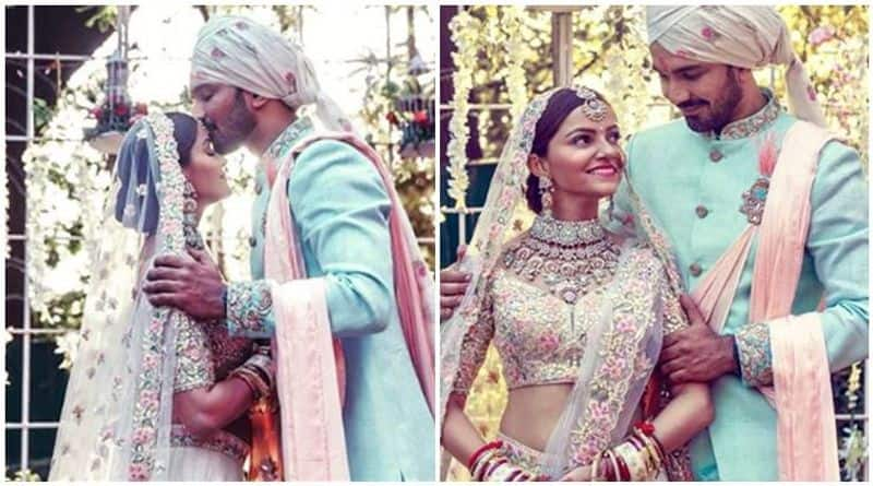 Abhinav Shukla and Rubina Dilaik- The duo was together for three years and sealed their relationship on June 21 in Shimla in a private ceremony.