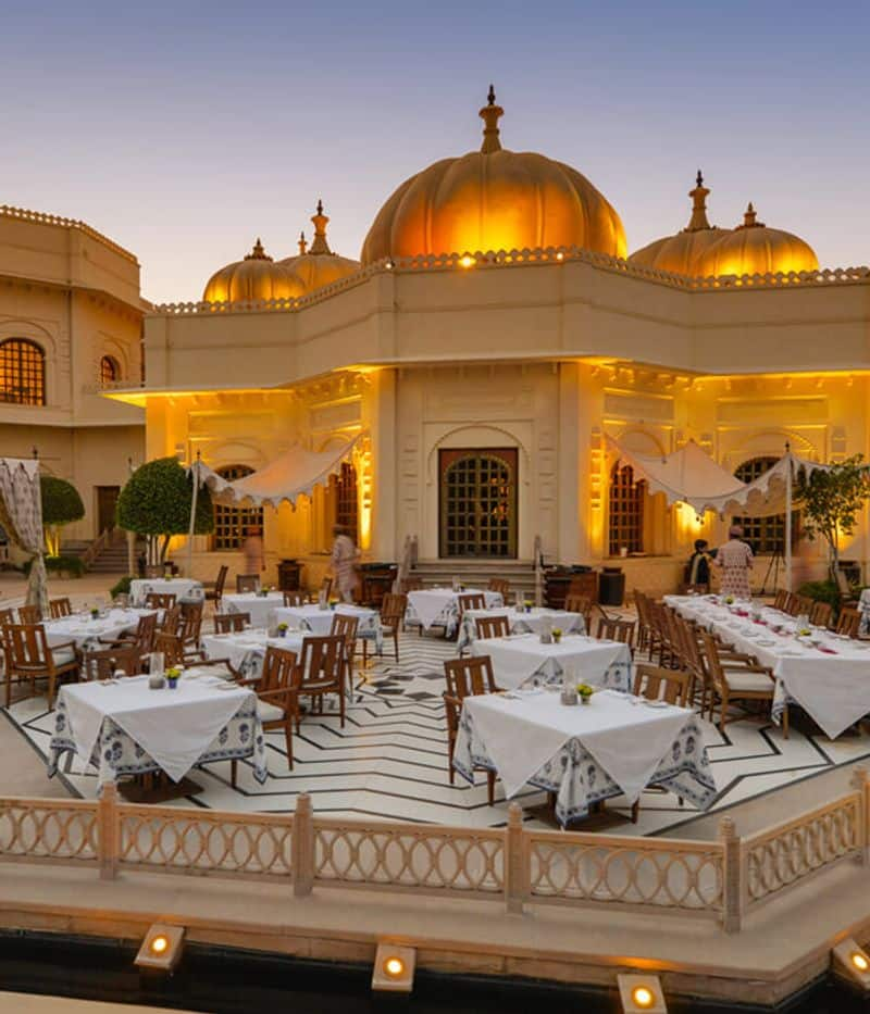 Udaivilas offers luxury dining serving international and Indian cuisines. The property also has bespoke private dining venues.