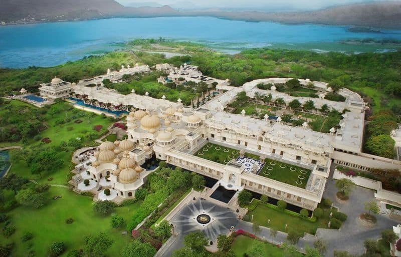 The Oberoi Udaivilas is a fifty acre property that once belonged to the Maharana of Mewar.