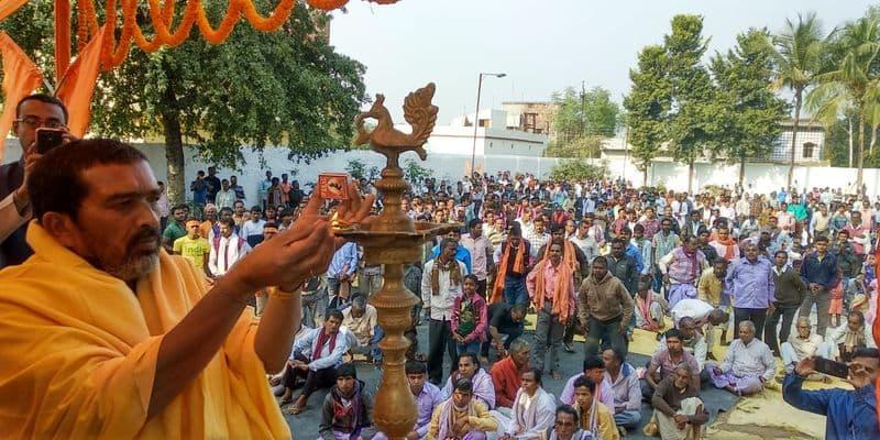 Vishwa Hindu Parishad organised protests, yajnas and meetings across Bengal in demand for Ram mandir.