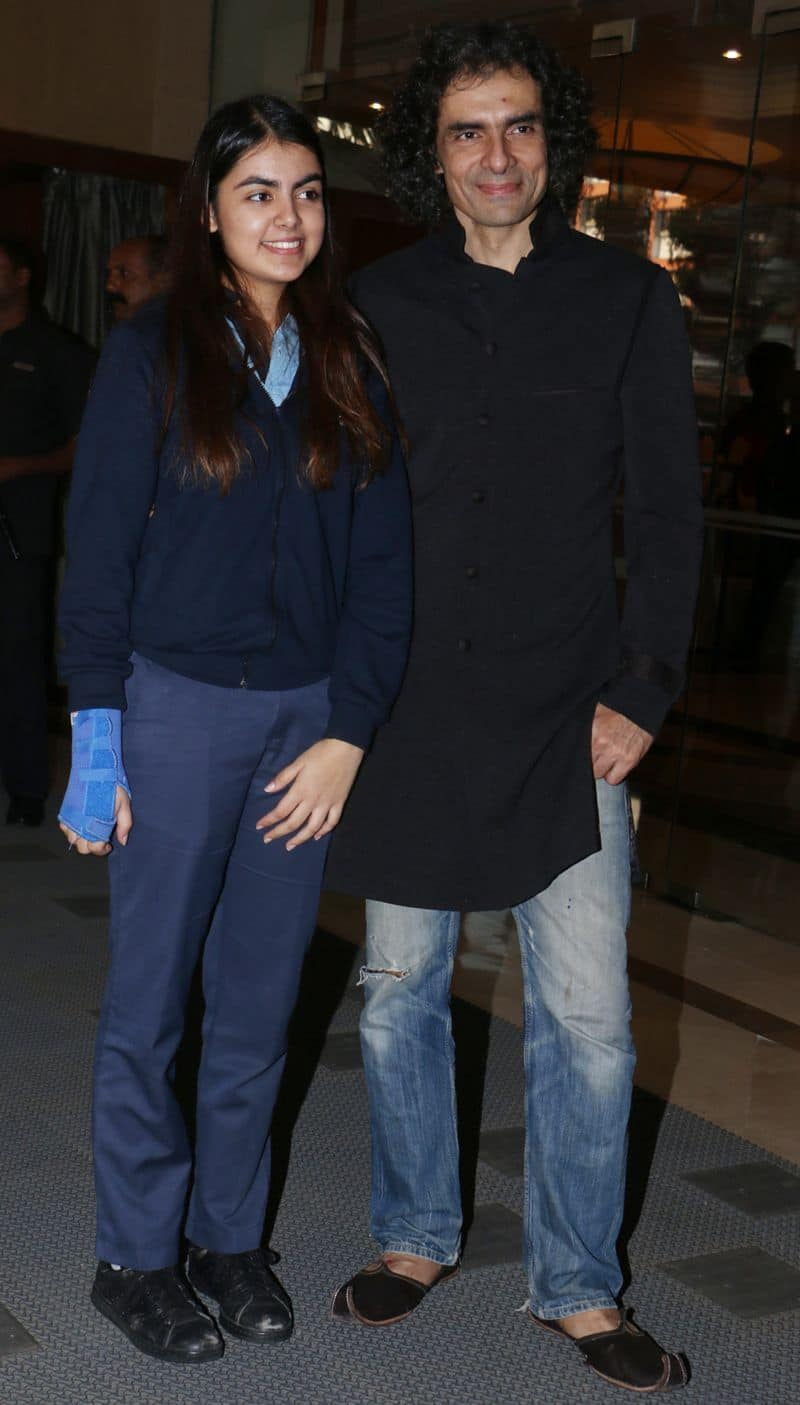 Filmmaker Imtiaz Ali attended the festivities with his daughter Ida. The father-daughter duo dressed casual for producer Dinesh Vijan's wedding.