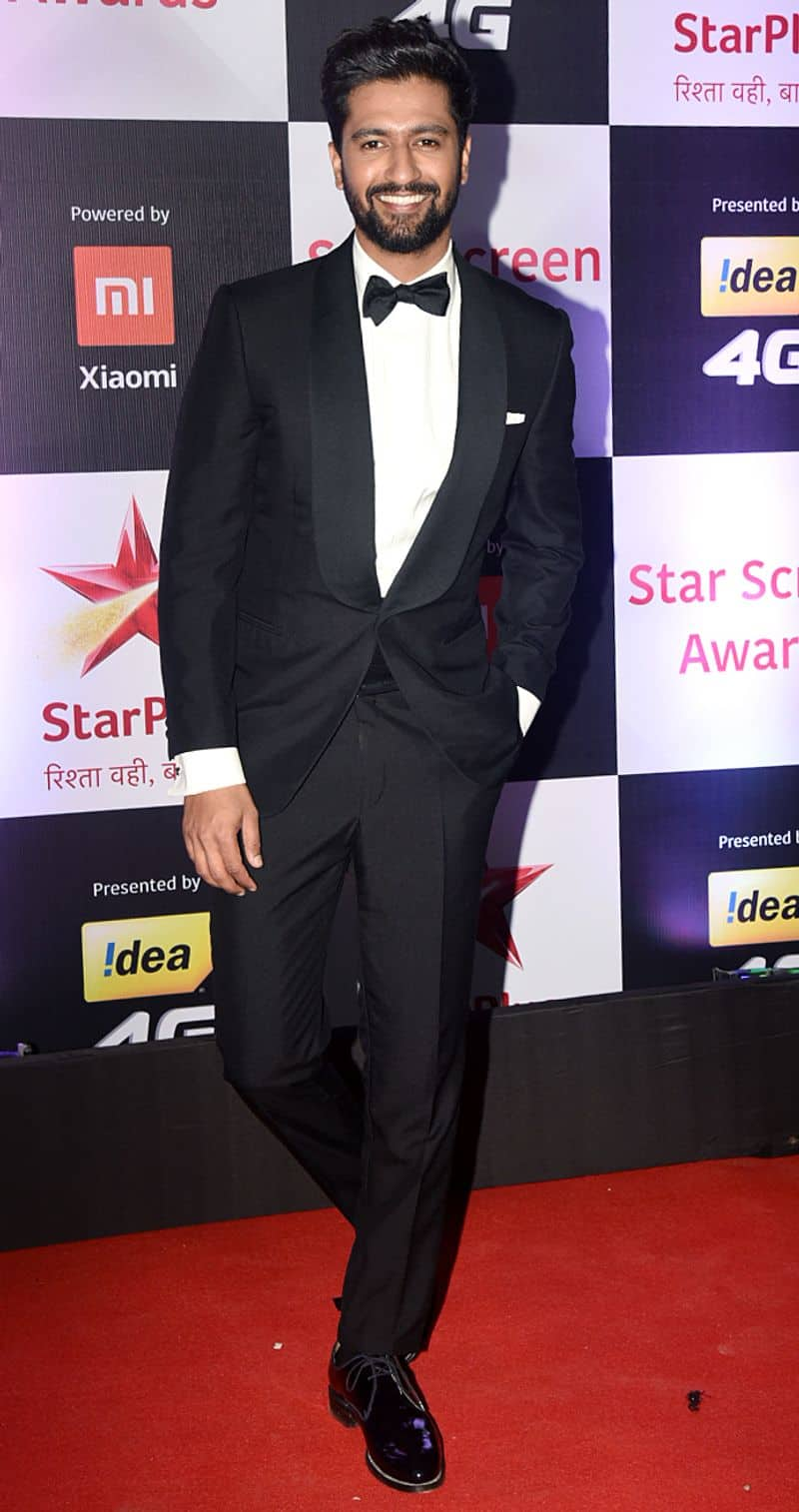 Bollywood's current heart throb Vicky Kaushal knows you can never go wrong in a black pant suit.