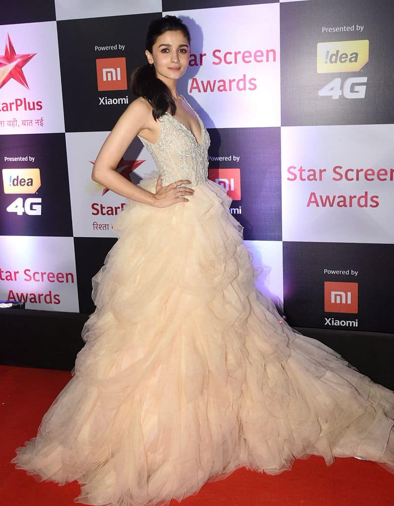 Alia Bhatt also lives her fairytale princess dreams in her ruffled outfit.
