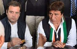 Raj Babbar with Rahul Gandhi