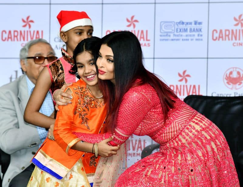 The Bachchan bahu celebrated the event with kids suffering from cancer.